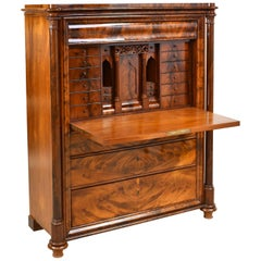 Swedish Fall-Front Secretary in West Indies Mahogany, circa 1850