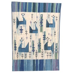 Swedish Flat Rug Tapestry