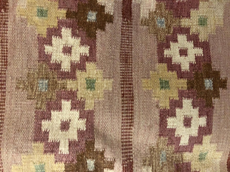 Mid-20th Century Swedish Flat-Weave Carpet by Ingegerd Silow For Sale