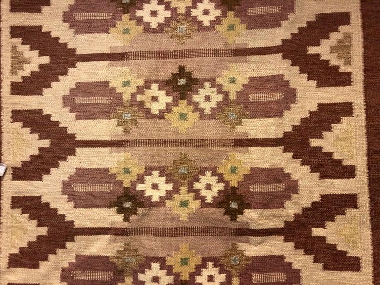 Swedish Flat-Weave Carpet by Ingegerd Silow For Sale 1
