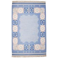 Swedish Flat-Weave Kilim Rölakan Carpet by Anna Johanna Ångström