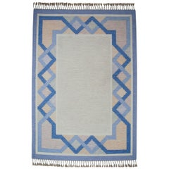 "Swedish Flat-Weave Kilim Rölakan Carpet ""Tinto"" by Anna Johanna Ångström"