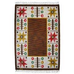 Swedish Flat-Weave Rölakan Carpet by Astrid Sampe, 1960s
