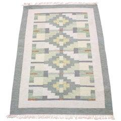 Swedish Flat Weave Röllakan Carpet, 1950s