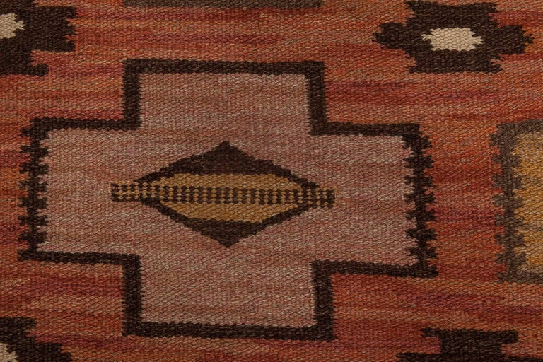 Swedish Flat-Weave Rug In Good Condition For Sale In New York, NY