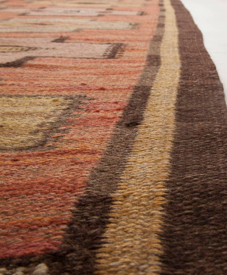 20th Century Swedish Flat-Weave Rug For Sale