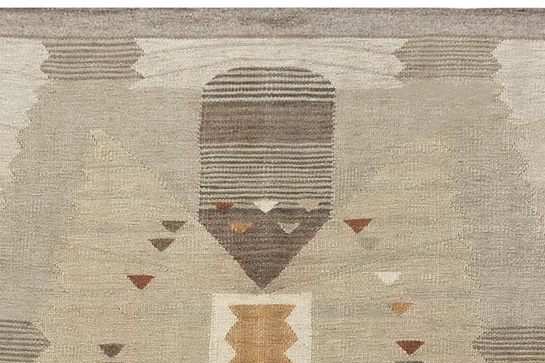 Contemporary Swedish Flat-Weave Rug For Sale