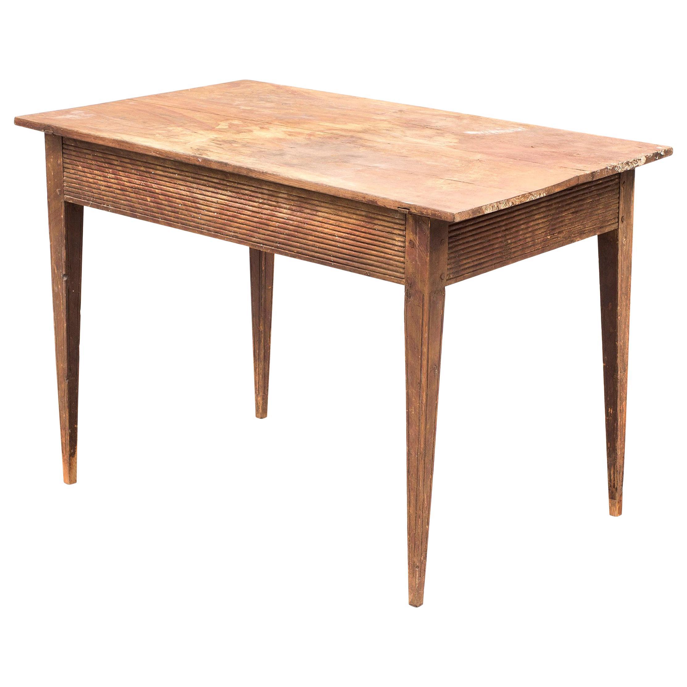 Swedish Folk Art Side Table, 18th Century
