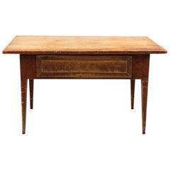 Swedish Folk Art Table, 18th Century