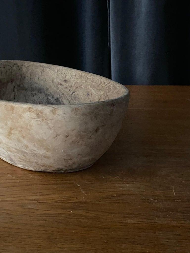 Swedish Folk Art, Unique 19th Century Farmers Bowl, Wood For Sale 2