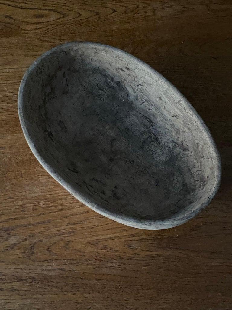 Swedish Folk Art, Unique 19th Century Farmers Bowl, Wood For Sale 3