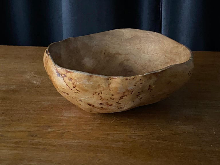 An antique, unique organic farmers wooden bowl so called