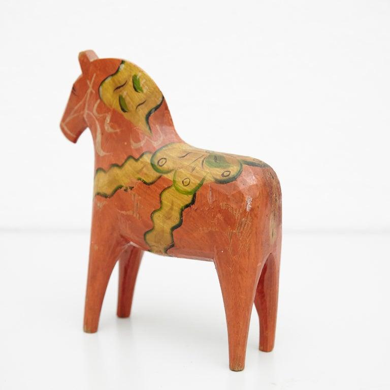 Swedish Folk Wooden Horse Toy, circa 1920 For Sale 6