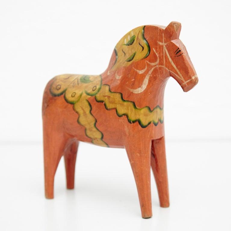 Swedish Folk Wooden Horse Toy, circa 1920 For Sale 8