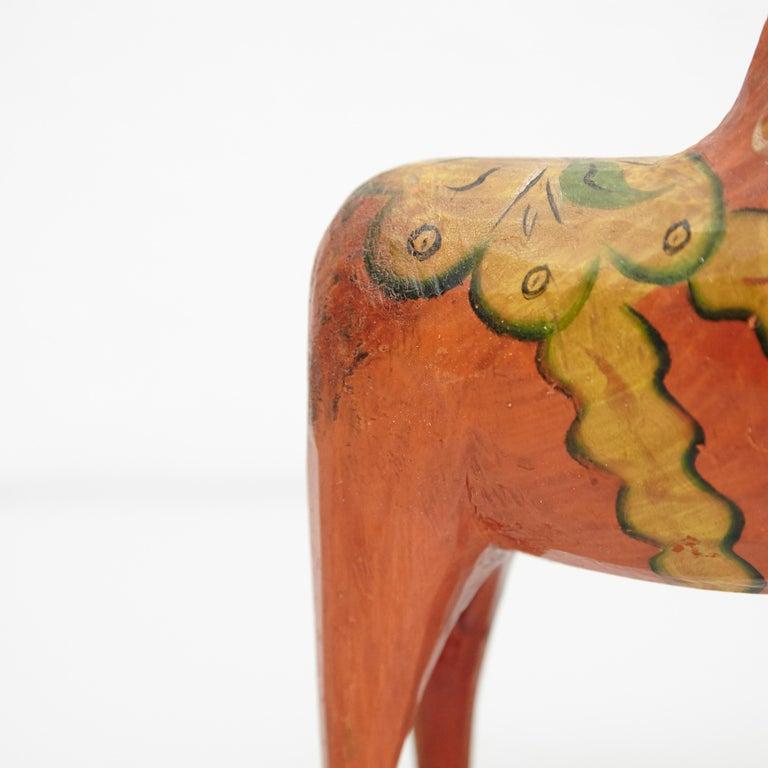 Swedish Folk Wooden Horse Toy, circa 1920 For Sale 2