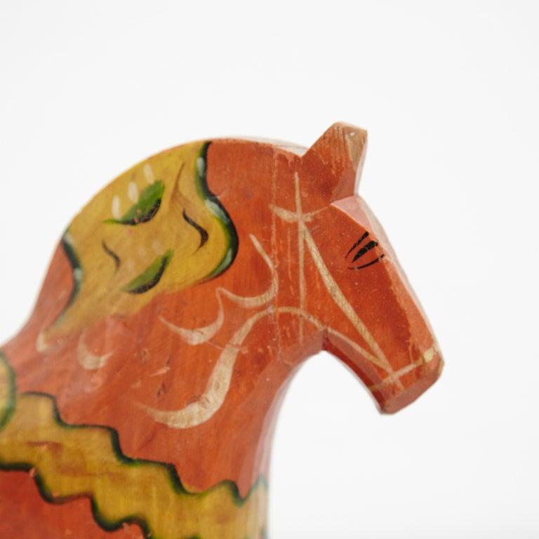 Swedish Folk Wooden Horse Toy, circa 1920 For Sale 3