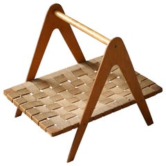 Wood Magazine Racks and Stands