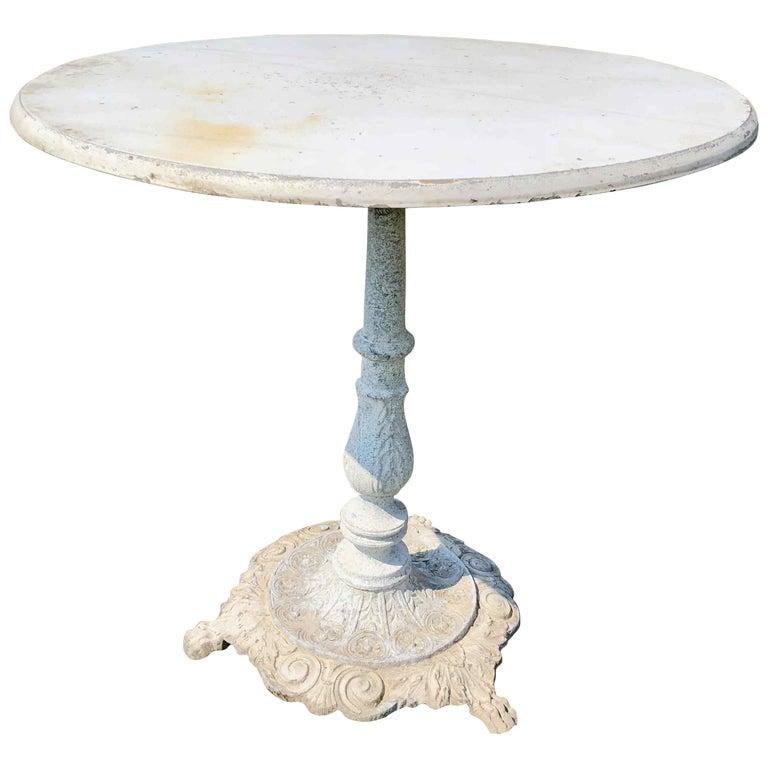 Swedish Garden Steel Table For Sale