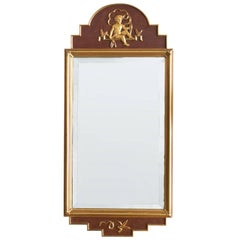 Swedish Giltwood Art Deco Mirror by W. Lundell