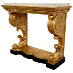 Swedish Giltwood Early 19th Century Empire Console Table