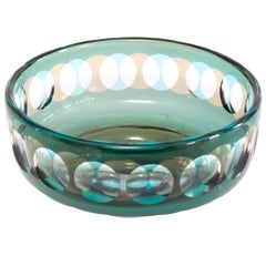 Swedish Glass Bowl Designed by Ove Sandeberg for Kosta, Sweden, circa 1960