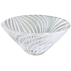 Swedish Glass Optical Swirled Bowl Barware