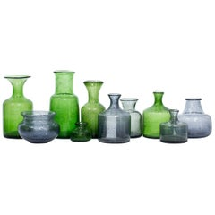 Swedish Glass Vases by Erik Höglund, Group of 10