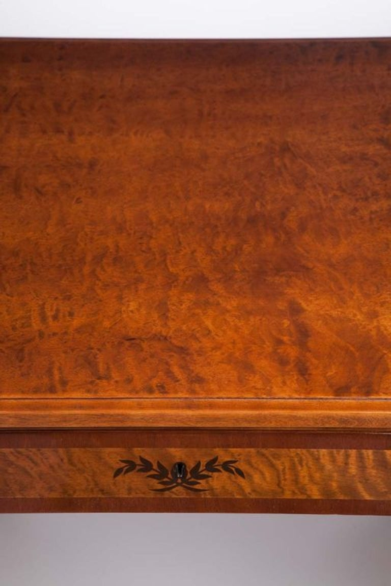 Art Deco Exotic Wood Inlay Desk by Andrew Szoeke For Sale 3