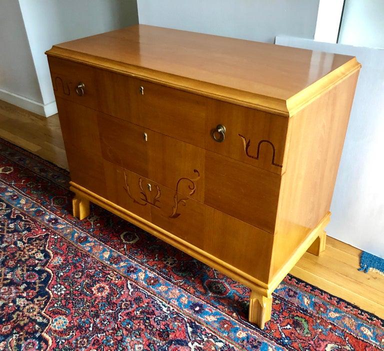 Art Deco Swedish Grace Period Petite Commode For Sale