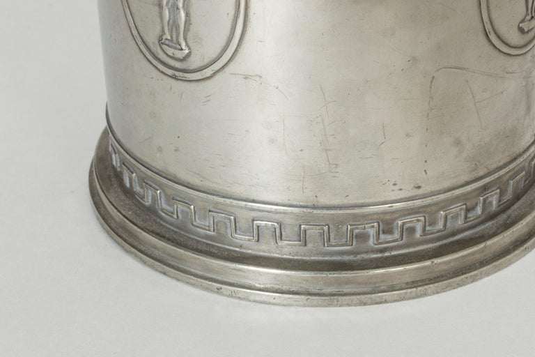 Early 20th Century Swedish Grace Pewter Jar from Schreuder & Olsson For Sale