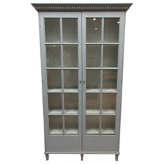 Swedish Gustavian 2-Door Glass Cabinet
