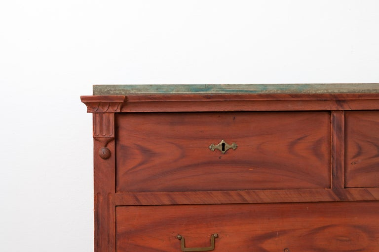 Swedish Gustavian and Empire Chest of Drawers For Sale 6