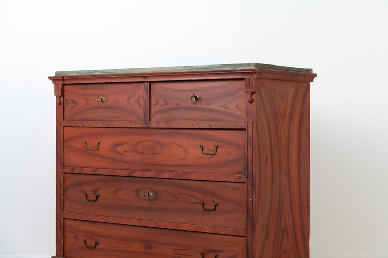 19th Century Swedish Gustavian and Empire Chest of Drawers For Sale