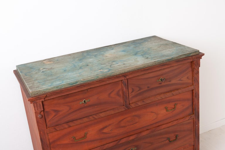 Swedish Gustavian and Empire Chest of Drawers For Sale 3