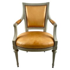 Swedish Gustavian Armchair, Late 18th Century