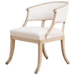 Swedish Gustavian Barrel Back Armchair from the Late 18th Century