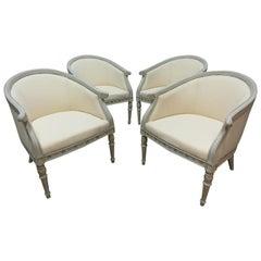 Swedish Gustavian Barrel Chairs 4