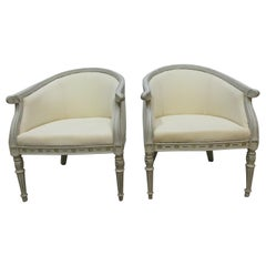 Swedish Gustavian Barrel Chairs