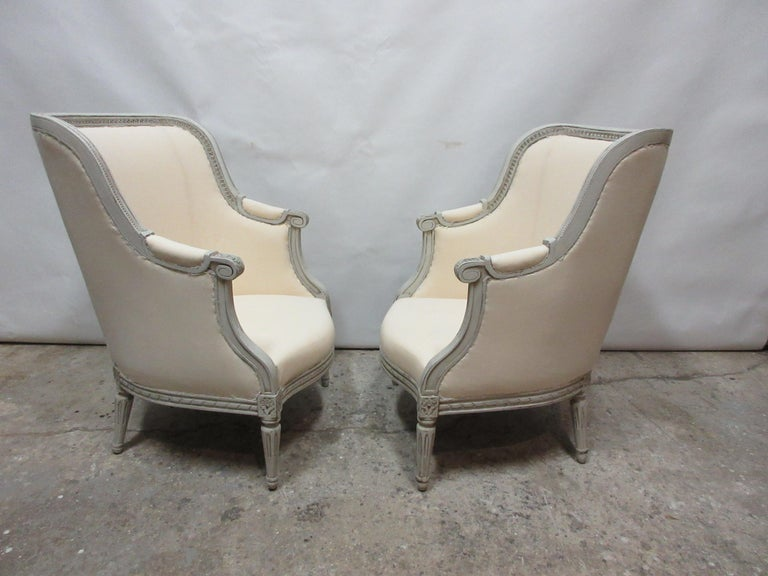 Swedish Gustavian Berger Chairs In Good Condition For Sale In Hollywood, FL