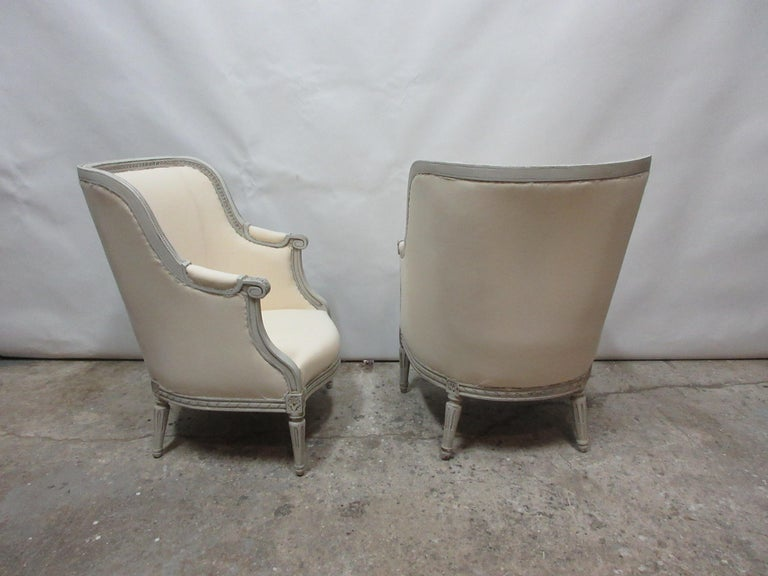Mid-20th Century Swedish Gustavian Berger Chairs For Sale