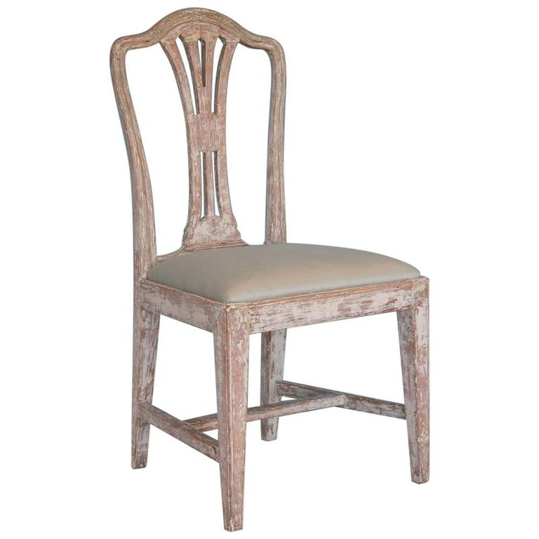 Gustavian chair, ca. 1780, offered by Dienst + Dotter Antikviteter