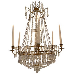 Swedish Gustavian Chandelier, Haga Chandelier Made, circa 1780