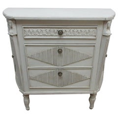 Swedish Gustavian Chest Of Drawers / Cabinet