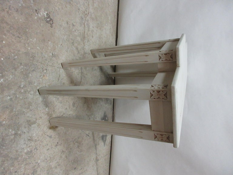 Swedish Gustavian Console Table In Distressed Condition For Sale In Hollywood, FL