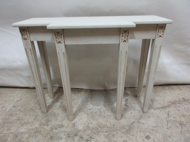 Contemporary Swedish Gustavian Console Table For Sale