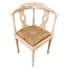 Swedish Gustavian Corner Armchair in Original Patina