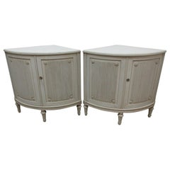 Swedish Gustavian Corner Cabinets