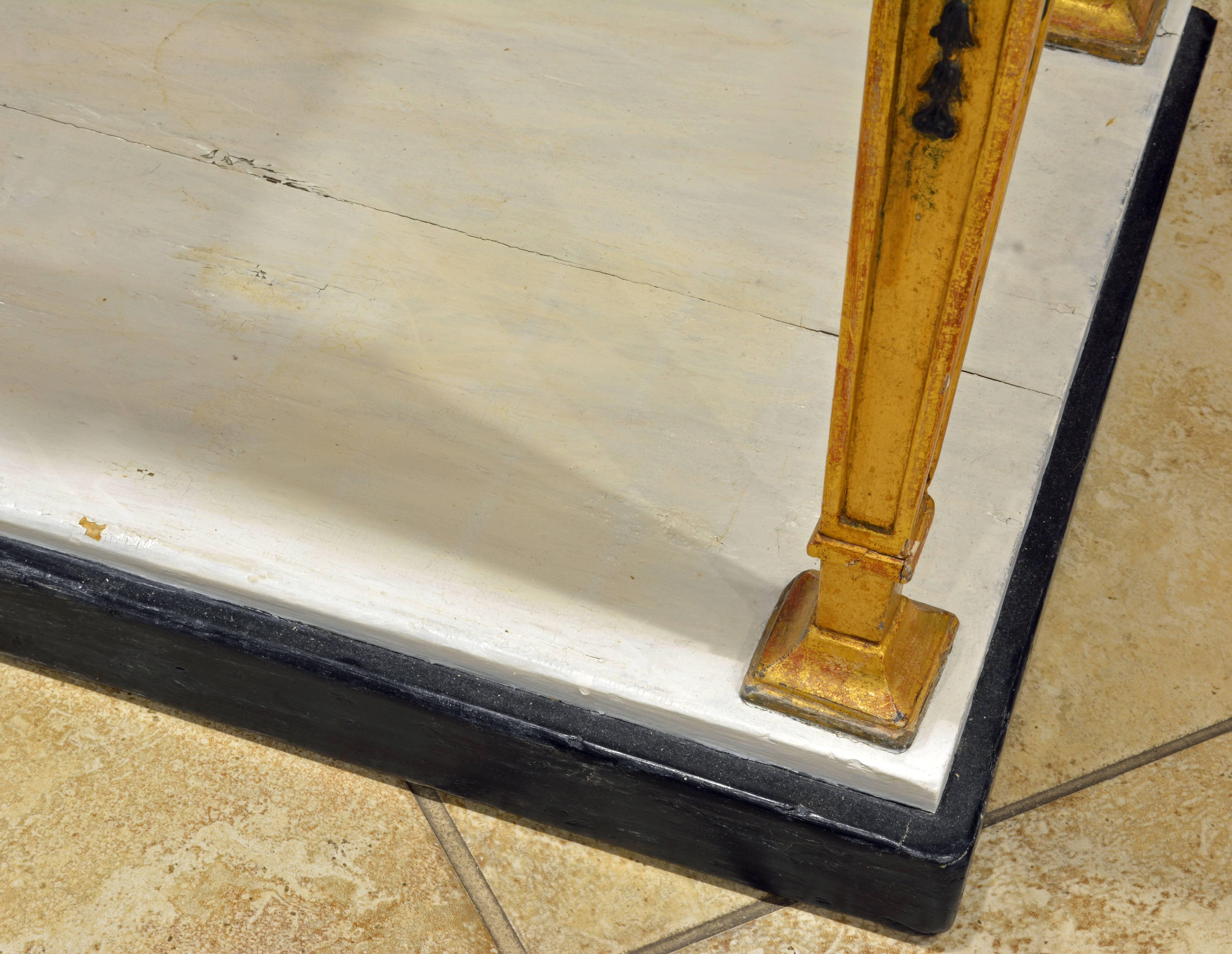 Swedish Gustavian Egyptian Themed Giltwood and Ebonized Marble Top ...
