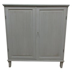 Swedish Gustavian Fluted Door Sideboard