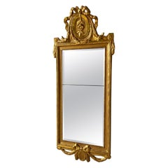 Swedish Gustavian Gilt Mirror, Signed with Stockholms Hallstamp, 1776